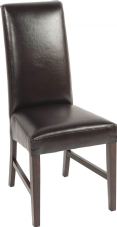 Marlow Wooden Side Chair with Upholstered Seat & Back in Dark Brown